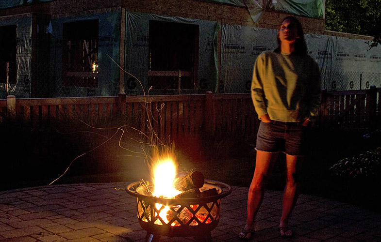 Firepit and wife